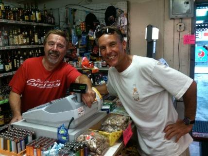 Tony Duynstee at the counter of El Camino Market summer 2012